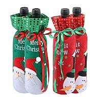 f714373b05900 Christmas Bottle Cover Bag Santa Claus Snowman Wine Bottle Decoration Bag  Dinner Party Table Decor Xmas