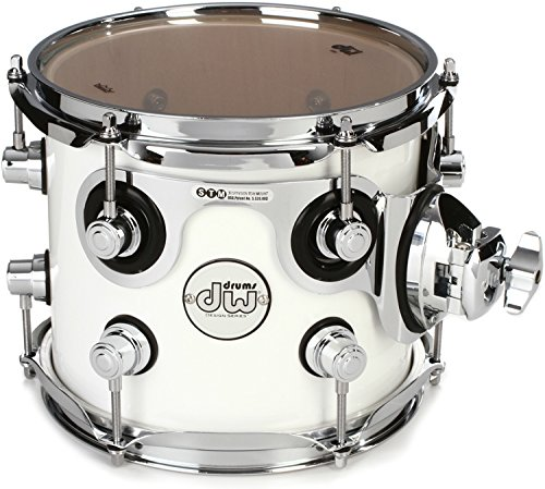 DW Design Series Mounted Tom - 7 Inches X 8 Inches Gloss White