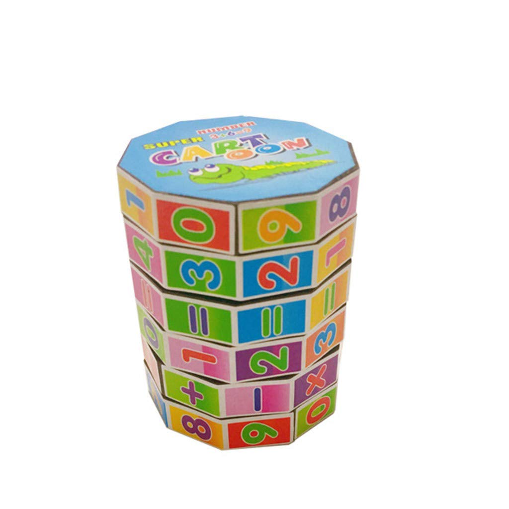 Tuu Mathematics Numbers Magic Cube Toy Puzzle Game Gift for Kids Children (Multicolor)
