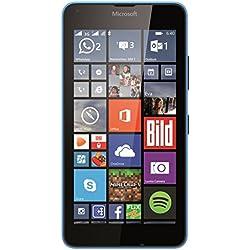 Microsoft Lumia 640 Smartphone, Dual-SIM, Display HD-IPS 5 Pollici, Processore Quad-Core 1,2GHz, Fotocamera 8 MP, Memoria 8GB, Win 8.1, Blu [Germania]