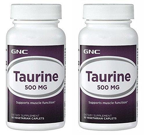 GNC Taurine 500mg--2 bouteilles chacune de 50 comprimés