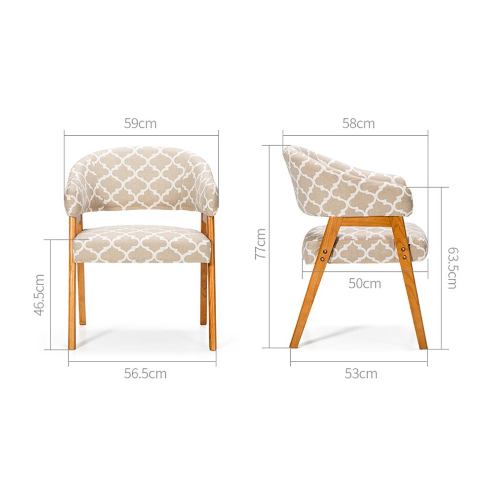 Amazon.com - Solid Wood Dining Chairs With Armrest Modern Fabric ...