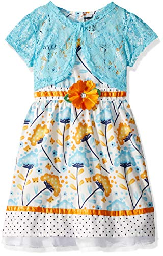 (Limited Too Girls' Big Printed Sundress with Shurg, Dandelion Multi,)