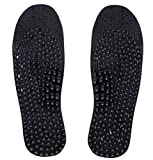[Pack of 2] Charcoal Anti Ordor Acupuncture Foot Massage Insoles with Free Gift (Charcoal)