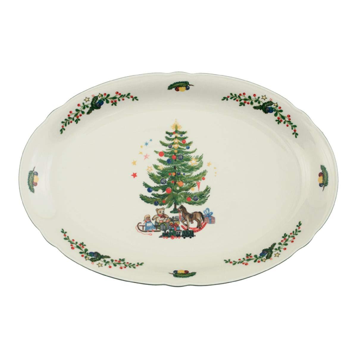 Seltmann Weiden 001.294654 Marieluise Weihnachten Servierplatte oval ...