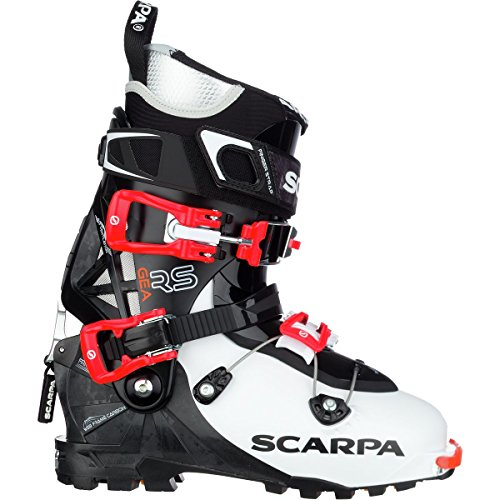(Scarpa Gea RS Alpine Touring Boot - Women's White/Black/Flame, 25.5)