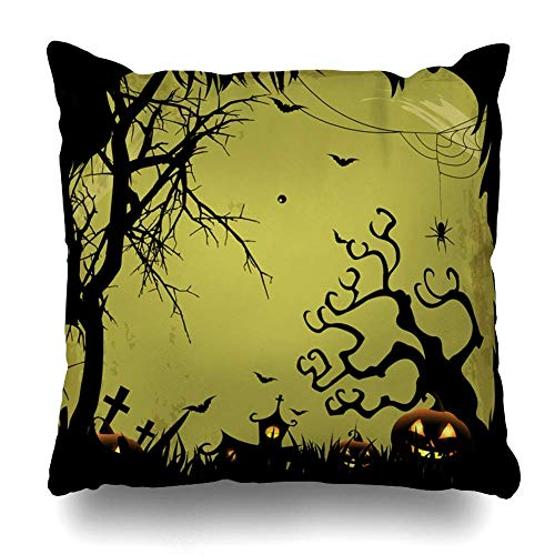 Throw Pillows Covers for Couch/Bed 18 x 18 Inches/45x45cm, Sugar Skull Halloween Candy Skulls Day Home Sofa Cushion Cover Pillowcase Gift Bed Car Living Home]()
