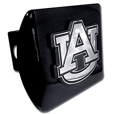 "Elektroplate C210AU1 Auburn University Tigers Black with Chrome AU Emblem NCAA College Sports Metal Trailer Hitch Cover Fits 2"" Auto Car Truck Receiver: Automotive"