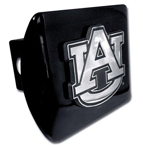 Elektroplate C210AU1 Auburn University Tigers Black with Chrome AU Emblem NCAA College Sports Metal Trailer Hitch Cover Fits 2'' Auto Car Truck Receiver by Elektroplate