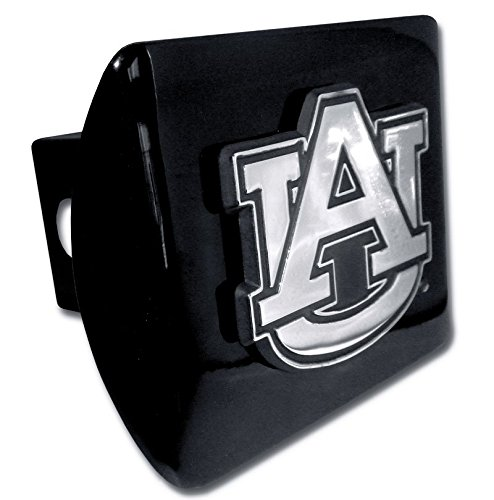 Elektroplate C210AU1 Auburn University Tigers ''Black with Chrome AU Emblem'' NCAA College Sports Metal Trailer Hitch Cover Fits 2'' Auto Car Truck Receiver by Elektroplate