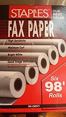 Staples Fax Paper