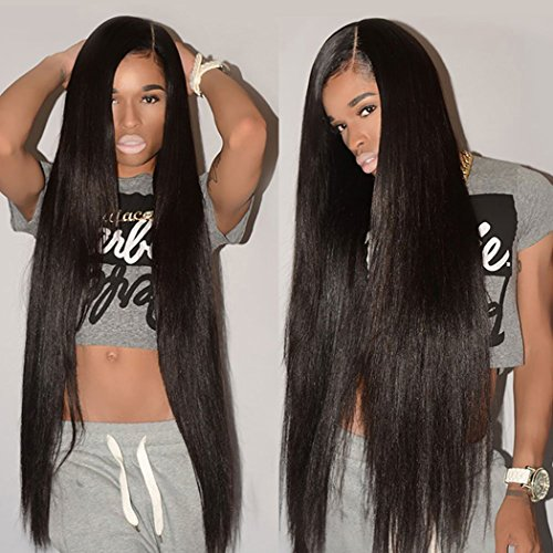 Grace Length Hair 8A Grade Brazilian Straight Human Hair Bundles Weave Hair Human Bundles (18 20 22,Natural Black) Brazilian Virgin Hair For African Americans Women 3 Bundles Total 300g (Best Brand Of Weave For African American Hair)