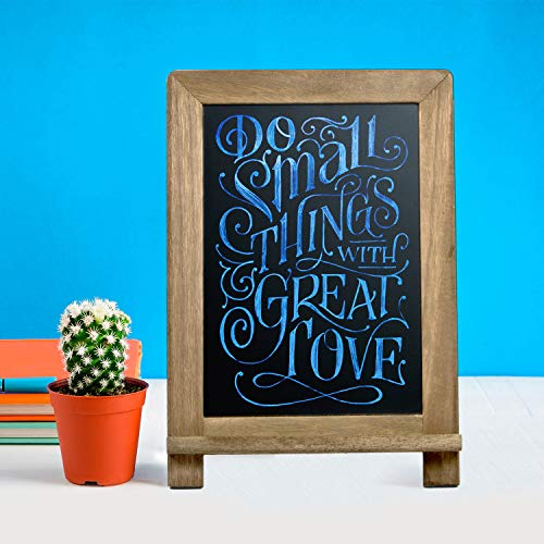 Rustic Wooden Framed Standing Chalkboard Sign With Non