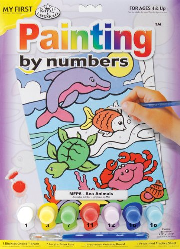 Royal Brush MFP-6 My First Paint by Number Kit, 8.75 by 11.375-Inch, Sea Animals