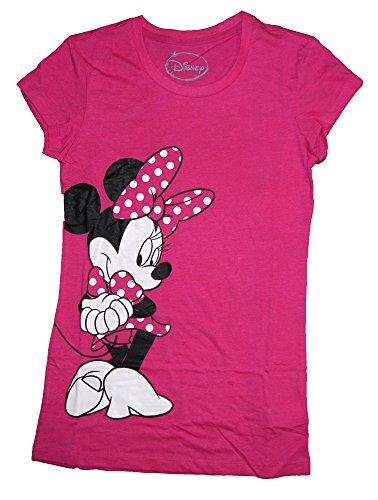 Disney Classic Minnie Mouse Womens Pajama T Shirt Top - Pink -