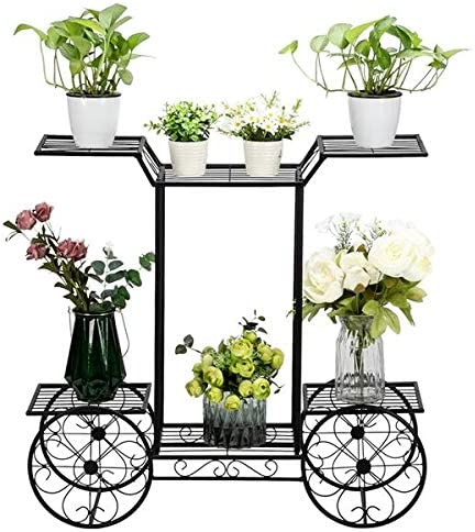 HONERENY Wrought Iron Metal 100% quality warranty! Plant Seattle Mall Plan Rack Stand Shelves Flower