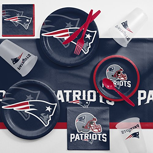 Creative Converting New England Patriots Game Day Party Supplies Kit, Serves 8 -