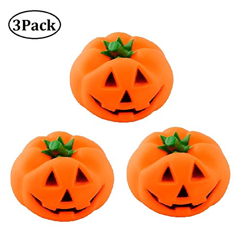 Stock Show 3Pcs/Pack Dog Pumpkin Shaped Squeaky Toys Pet Dog Latex Chewing Toys]()