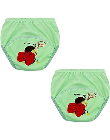mama stadt 2er Pack Baby Trainingshose T/öpfchentraining Unterw/äsche Baumwolle Waschbare Atmungsaktiv Wasserdicht Kleinkinder Unterhosen