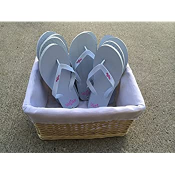 e607c98f0 Amazon.com  Bulk Wedding Flip Flops with Basket - Sandals By Weddyz ...