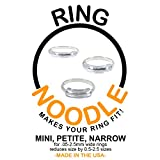RING NOODLE: Ring Size Reducer   Ring Guard   Ring Size Adjuster. Size: Mixed for Thin Rings, 1 Mini, 1 Petite, 1 Narrow, for rings 0.5 to 2.5 mm wide.