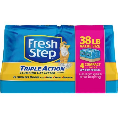 Fresh Step Triple Action, Clumping Cat Litter, Scented, 38 Pounds