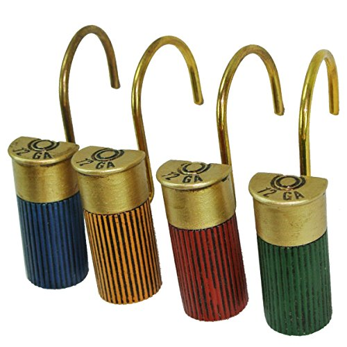LL Home 13001 Shot Gun Shell Shower Curtain Hooks Set
