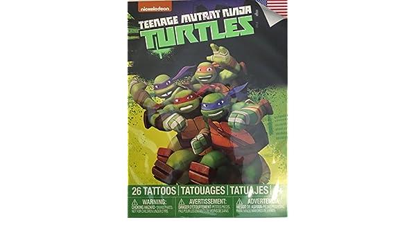 Amazon.com: Teenage Mutant Ninja Turtles Temporary Tattoos ...