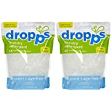 Laundry Detergent Pacs, Scent + Dye Free 80 Ct by Dropps (Pack of 2)