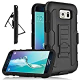 (US) Galaxy S6 Edge Case, Heng Tech (TM) [Heavy Duty] Holster Full Body Protection Hybrid Dual Layer Case with Kickstand & Belt Clip Cover for Samsung Galaxy S6 Edge S VI Edge G925