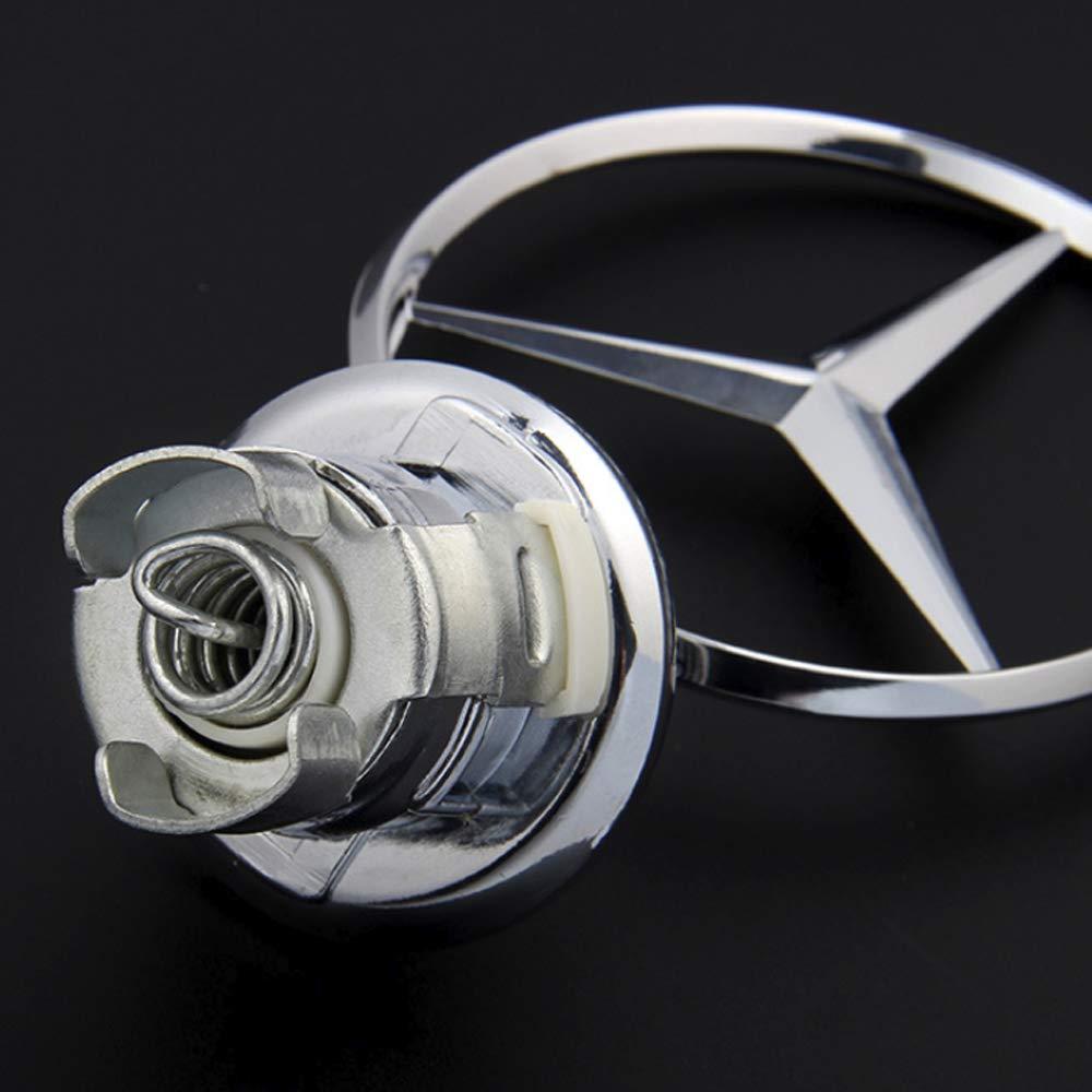 Emblem Stern Motorhaube Logo Sternemblem Motordeckel Kapuze A2108800186 f/ür W202 W203 W210 W211 W220