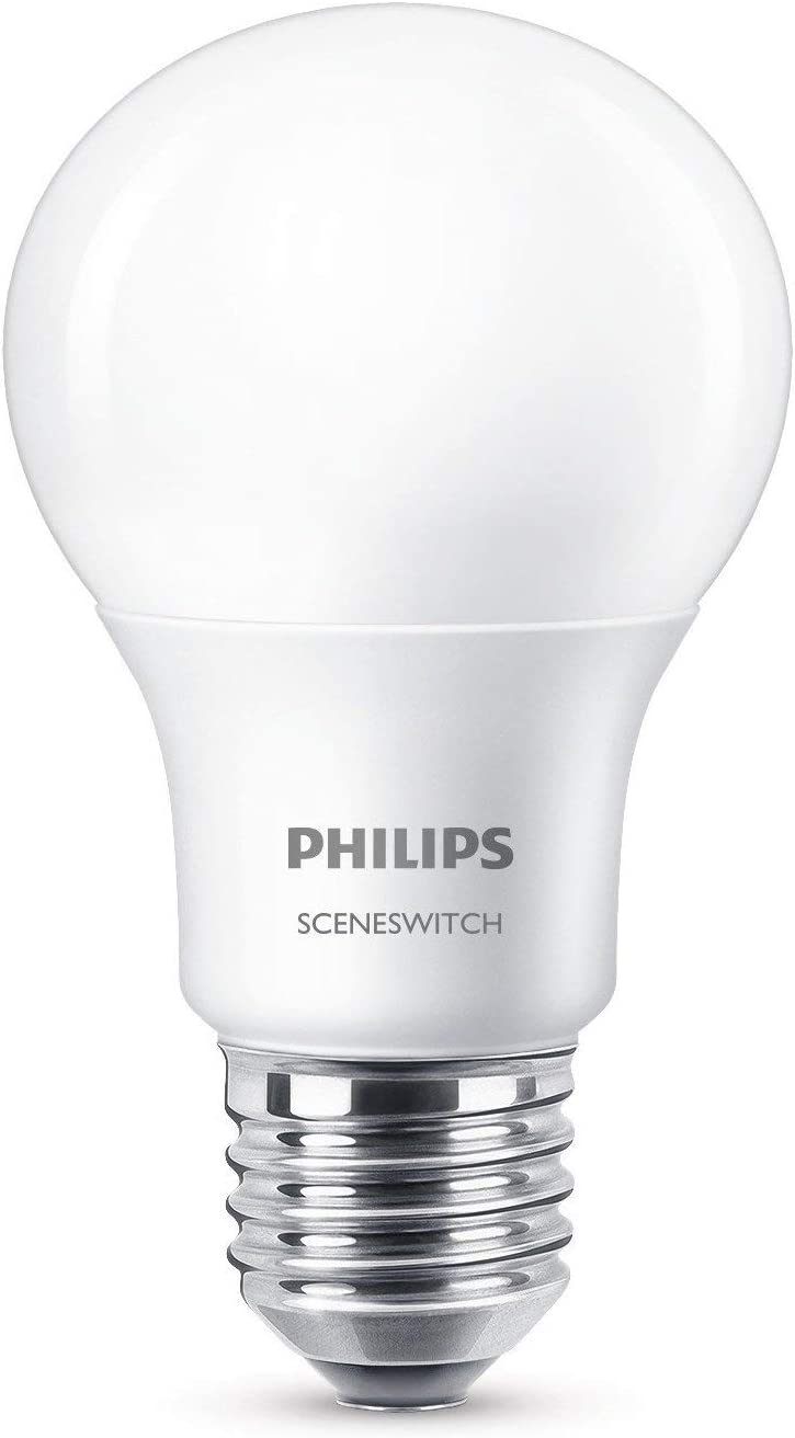 Philips 3-in-1 LED Lampe SceneSwitch ersetzt 60W E27 EEK A Dimmen ohne Dimmer