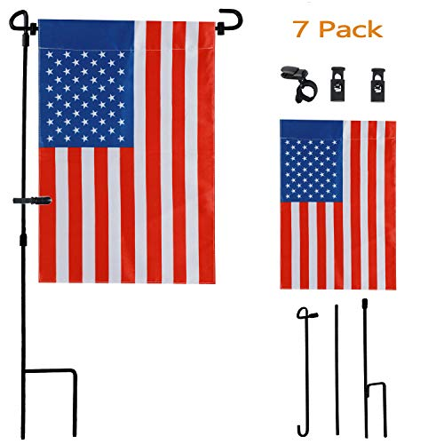 (Garden Flag with Stand, Premium Garden Flag Pole Holder Metal Powder-Coated Weather-Proof Paint 36.5