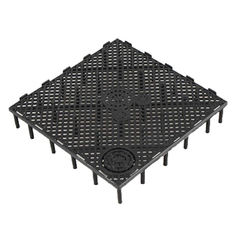 Yevison 1Pc Square Aquarium Fish Tank Under Gravel Bottom Filtration Plate Board Filter Decorative Under Gravel Enhancer System Drain Rack 03 Black Without Nozzle Durable and Useful by Yevison