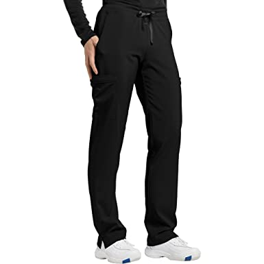 ea627786552 Fit by White Cross Women's Drawstring Cargo Scrub Pant X-Small Petite Black