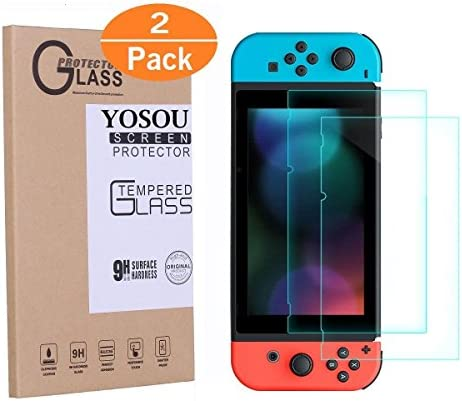 Yosou Protector Pantalla para Nintendo Switch [2 Pack],Cristal ...