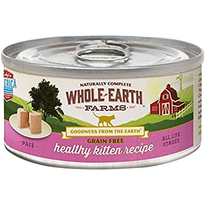 Merrick Whole Earth Farms Grain Free Wet Cat Food - Real Healthy Kitten - 5 Oz - 24 Pk