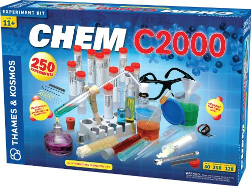 Thames & Kosmos Chem C2000 (V 2.0) Chemistry Set with 250 Experiments and 128 Page Lab Manual, Student Laboratory Quality Instruments & Chemicals ()
