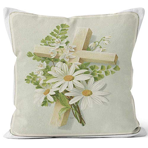 Nine City Victorian Easter Card Home Decorative Throw Pillow Cover,HD Printing Square Pillow case