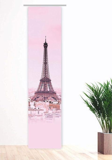 gardinen-for-life Flächenvorhang Eiffelturm rosa - Paris,Gr ...