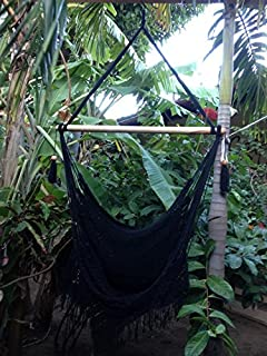 handmade hanging rope hammock chair   all natural indoor or outdoor porch swing patio swing chair amazon     amazonas paradiso hammock double  orange   garden      rh   amazon