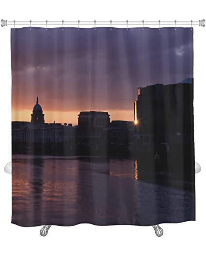 Gear New QuotCustom House International Financial Services Centre Ifsc Riverquot Shower Curtain