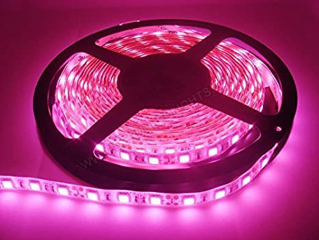 new style 22954 3aefb UG Pink LED 5 Meter Strip Waterproof + Adaptor Free