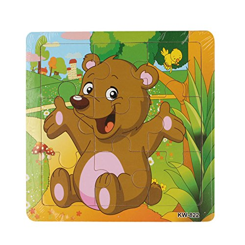 Dreamyth Wooden Bear Jigsaw Toys For Kids Education And Learning Puzzles Toy (9)