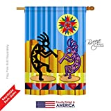 Breeze Decor SW-H-115079-IP Kokopelli Dream Vertical House Flag, 28″ x 40″, Multicolor Review