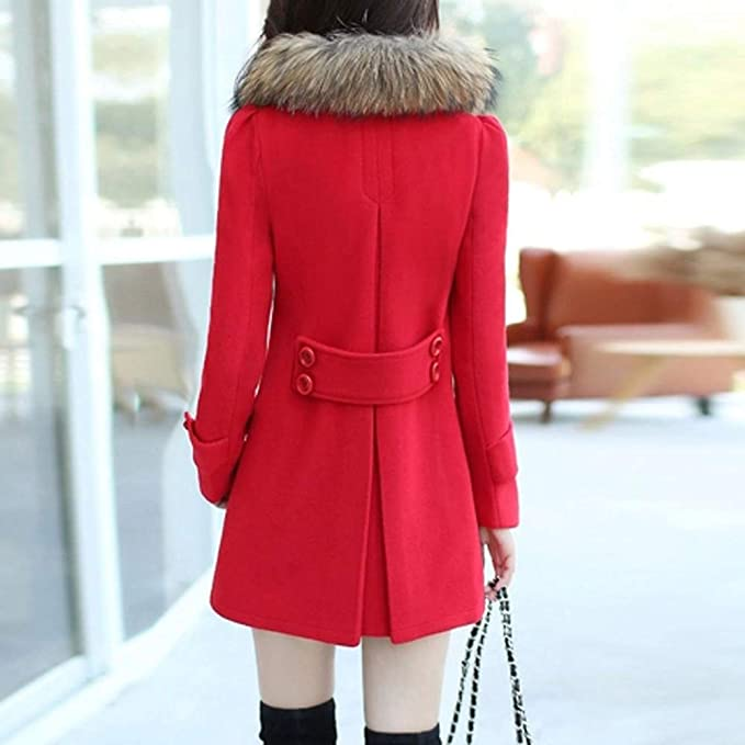 Amazon.com: Clearance Sale for Coat.AIMTOPPY Womens Long Solid Color Warm Fur Collar Wool Coat: Computers & Accessories