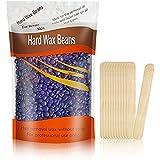 Hard Wax Beans, Stripless Depilatory Hair Removal Full-Body Wax Beans Lavender Brazilian Granules Wax Beads for Men Women 300g/10oz (Purple)