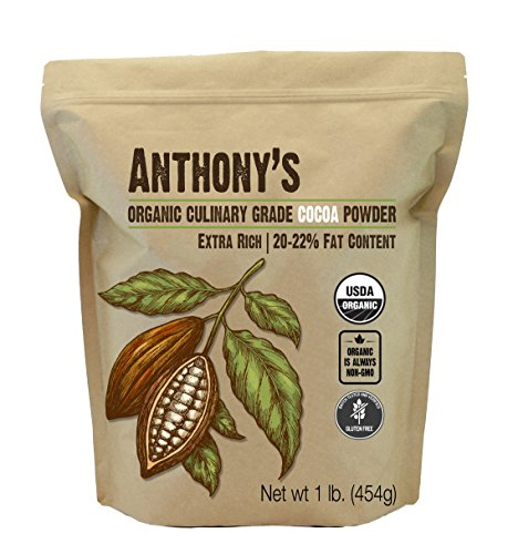 Cocoa Red (Anthony's Organic Culinary Grade Cocoa Powder (1lb), Dutch Processed Baking Cocoa, Gluten Free, Non-GMO)