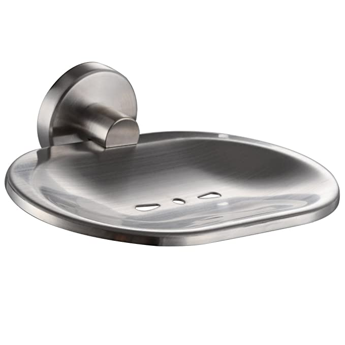 XVL Bathroom Stainless Steel Wall Mounted Soap Dish Brushed
