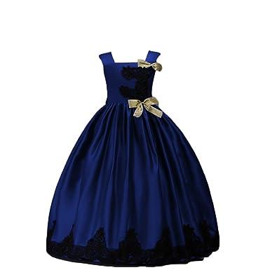 NiSeng NiSeng Mädchen Kinder Prinzessin Kleid Hochzeit Brautjungfer ...